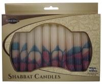 Safed Shabbat Candle 12 Pack - Tree Turquoise