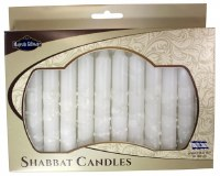 Safed Shabbat Candle 12 Pack - White Drops