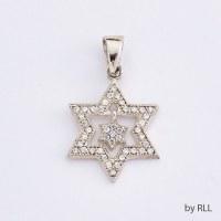 925 Silver Pendant Star of David In Star of David Design