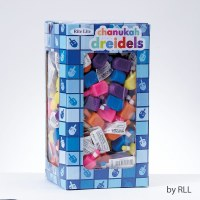 Small Plastic Chanukah Draydels - Assorted Colors - 200 Pack