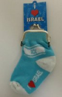 Sock Shaped Israel Change Wallet
