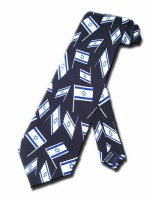 Necktie with Mini Israeli Flags