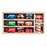 Motorized Emergency Vehicle Trains Set