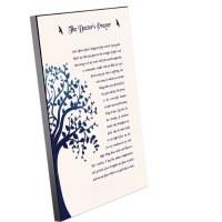 "Tefillas HaRofea Wood Plaque English Tree of Life Design 11"" x 14"""