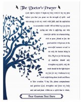 "Personalized Tefillas HaRofea Wood Plaque English Tree of Life Design 11"" x 14"""