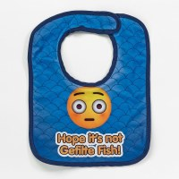"Emoji Bib ""Hope It's Not Gefilte Fish"""