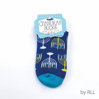 Chanukah Crew Socks Menorah Design Adult Size 9-11