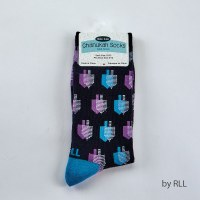 Chanukah Crew Socks Dreidels Design Adults Size 10-13
