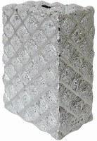 Tzedakah Box Silver 925 Plated Diamond Pattern