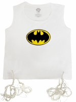 Undershirt Tzitzis Cotton with Silk Screened Batman Design Size 2