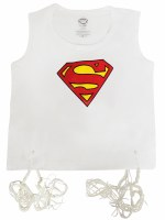 Undershirt Tzitzis Cotton with Silk Screened Superman Design Size 2