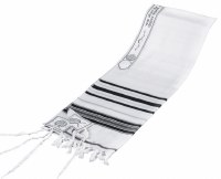 Tallis Wool Black and Silver #60