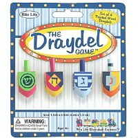 """The Draydel Game"" - 4 Small Painted Wood Draydels"