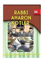 Rabbi Aharon Kotler [Paperback]