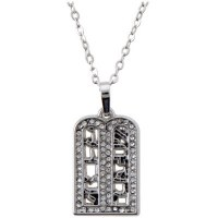 Necklace Silver Rhodium Luchos