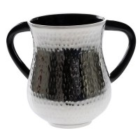 Aluminum Wash Cup Silver with Dark Grey Handles