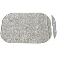 "Acrylic Challah Tray Silver with Matching Acrylic Knife 11"" x 14.5"""