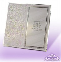 Techinos Eishes Chayil Trifold Grey Square Side Colored Floral Design with Velvet