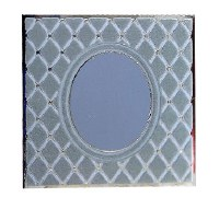Birchas Hamazon Square Trifold Blue Diamond Design Edut Mizrach