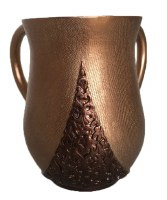 Wash Cup Acrylic Two Tone Brown Design