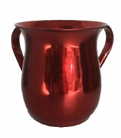 Wash Cup Red Metallic Metal