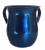 Wash Cup Blue Metallic Metal