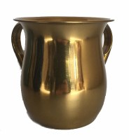 Wash Cup Gold Metallic Metal