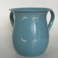 Wash Cup Light Blue Metallic Metal