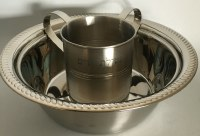 """Wash Cup and Bowl Stainless Steel """"Netillas Yadayim"""" Set"""