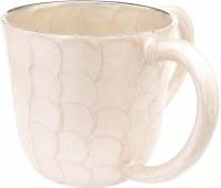 Wash Cup Enamel Ivory Petal Design