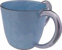 Wash Cup Enamel Light Blue Petal Design