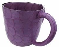 Wash Cup Enamel Purple Petal Design