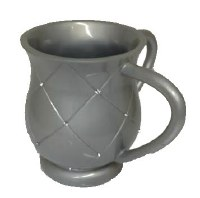 Wash Cup Silver Diamond Squares with Gems