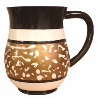Wash Cup Gold Tone Marble Design
