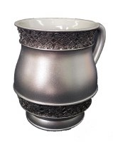 Wash Cup Silver Color with Filigree Border Design