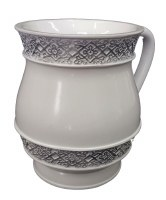 Wash Cup White Color with Filigree Border Design