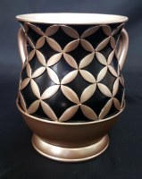 Wash Cup Diamonds in Circle Shape Design Brown and Black