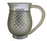 Wash Cup Silver Quilted Diamond Look