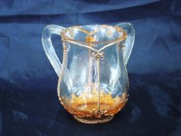 Wash Cup Acrylic Clear with Gold Tone Style