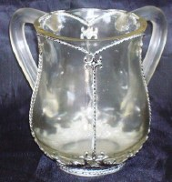 Wash Cup Acrylic Clear with Silver Tone Style