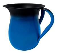 Wash Cup Glazed Aluminum Two Tone Blue