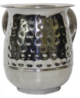Washing Cup Stainless Steel Semi Hammered Design 5.5""