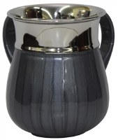 Washing Cup Stainless Steel with Dark Grey Enamel 5.5""
