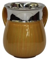Washing Cup Stainless Steel with Gold Enamel 5.5""