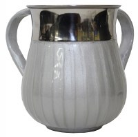 Washing Cup Stainless Steel with Light Grey Enamel 5.5""