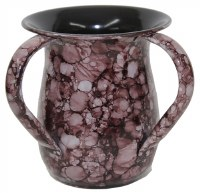 Washing Cup Stainless Steel Purple Marble Design 5.5""