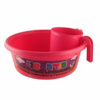 Plastic Washing Bowl and Cup Set Children Theme Pink