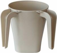 Wash Cup Plastic Beige