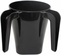 Wash Cup Plastic Black