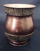 Wash Cup Brushed Copper Color with Filigree Border Design